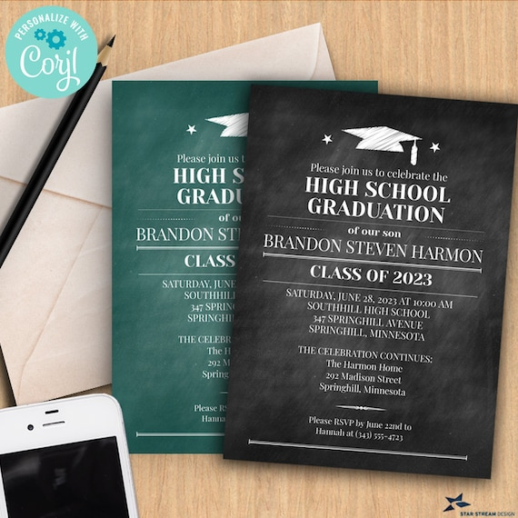 customized for you 5x7 cards with white envelopes Printed Graduation Party Invitation with Photos prints 2 sides multiple photos