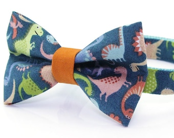 62ccdf7a1238 Dinosaur Bow Tie Cat Collar Set -
