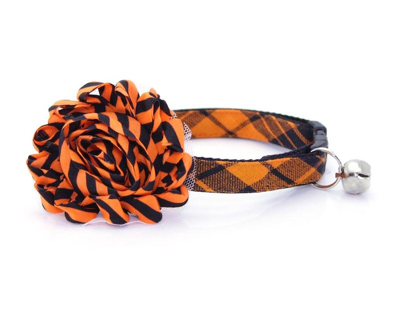 Kitten Small Dog Halloween Cat Collar Black /& Orange Plaid Cat Collar  Fall Cat Collar  Breakaway or Non-Break  Cat Hocus Pocus