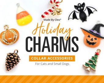 "Cat Collar Charm / Pet Charm / Dog Collar Charm - ""Holiday Charm Series"" - Pet Collar Accessory (St. Patrick's Day, Halloween, Christmas...)"