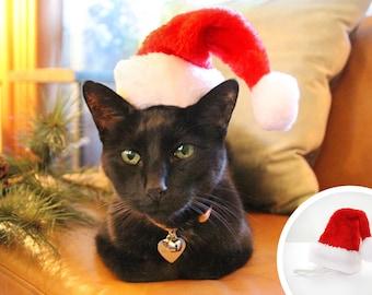 Cat Santa Hat - Christmas Pet Santa Hat   Holiday Photo Prop   X-Small Mini Santa Hat for Cats, Kittens & Little Dogs