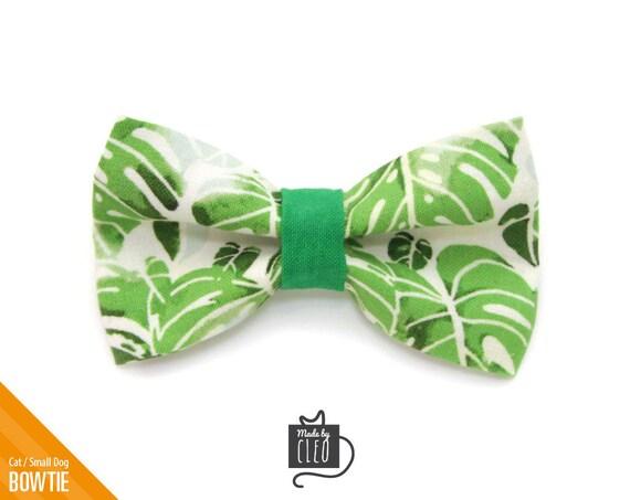 a4d3de59a4dc Pet Bow Tie Palms Green Palm Leaves Tropical | Etsy