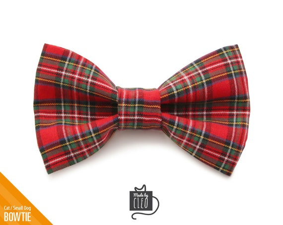 Plaid Cat Bow Tie Pet Bow Tie Gifts for Dogs Dog Bow Tie Detachable Dog Bow Tie Red Plaid Dog Bow Tie Christmas Dog Bow Tie
