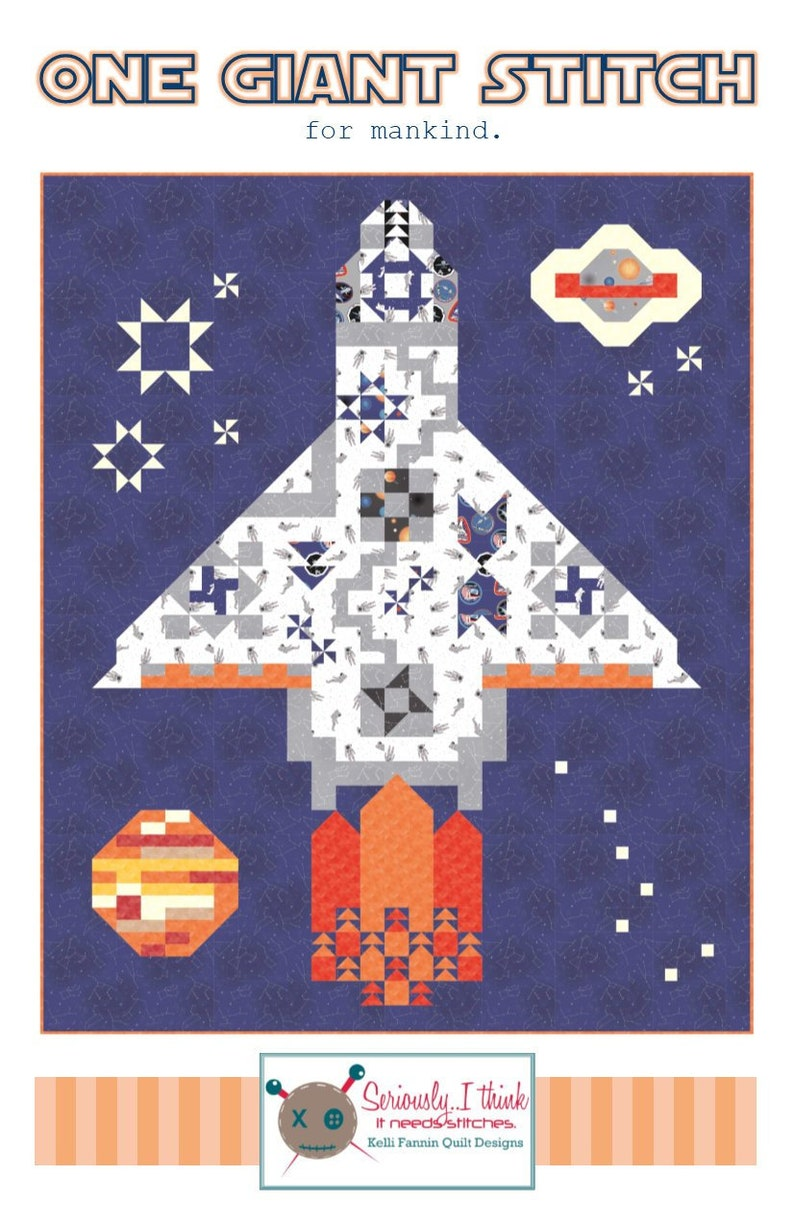 ONE GIANT STITCH for mankind Quilt Pattern