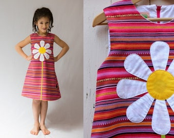 Daisy Peruvian cotton for big girl dress