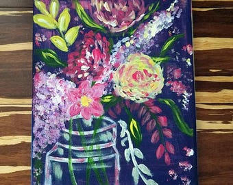 Items similar to Summer Bouquet Card with LadyBug on Etsy