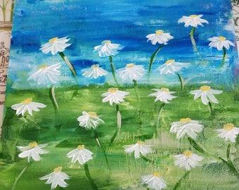 Daisy Field Painting