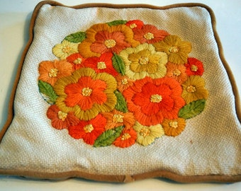 Vintage Orange and Yellow Pillow Sham