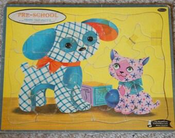 Vintage 1961 Whitman Preschool Frame Tray Puzzle