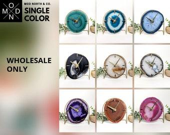 WHOLESALE ONLY | Single Color | Mod Agate Desk Clock