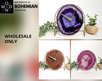 WHOLESALE ONLY | BOHEMIAN Collection | Mod Agate Desk Clock
