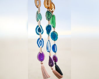 Choose Your Agate Garland Wall Hanging | Made to Order