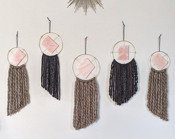 Choose Your Rose Quartz Wall Hanging | Ready to Ship