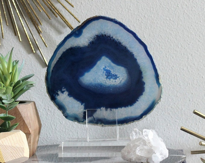 "Collector's Edition | 5"" Blue Quartz Agate Display No 8"