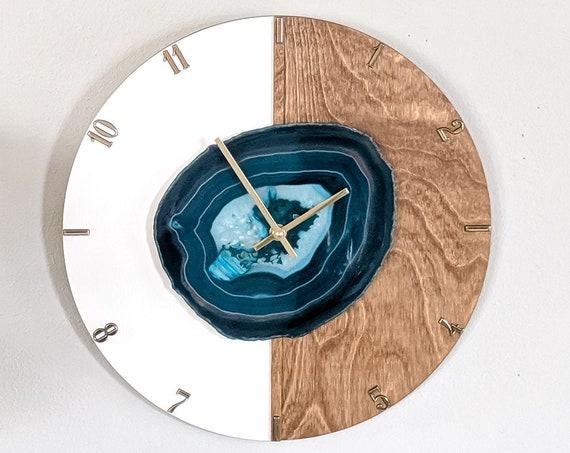 "16"" Choose Your Jumbo Agate Kismet Vertical Wood Wall Clock | Made to Order"