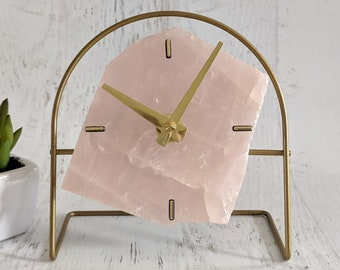 Standard Rose Quartz Desk Clock