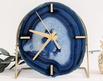 Blue Agate Desk Clock | Choose your Blue Agate