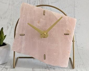 Standard Rose Quartz Desk Clock
