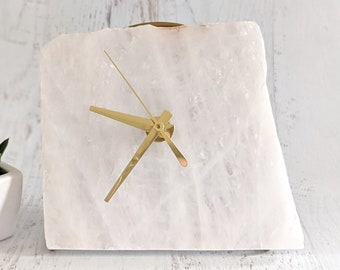 "6"" Large White Quartz Desk Clock"