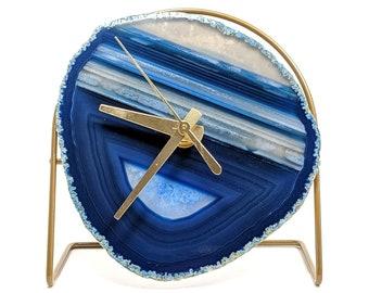 Blue Agate Desk Clock