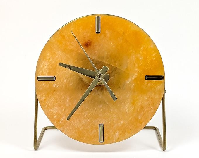 Yellow Quartz Stone Desk Clock