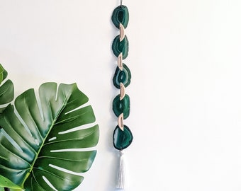 Dark Green Ombre Agate Garland