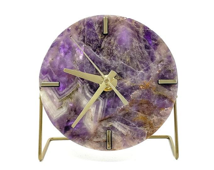 Amethyst Quartz Desk Clock