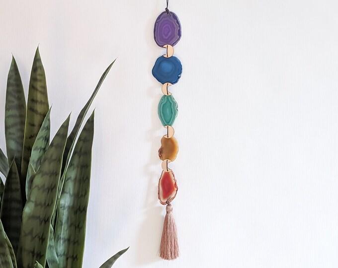 Chakra Design | Five-Piece Boho Agate Tassel Hanging