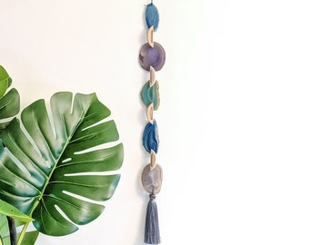 Light Blue/Lavendar/Light Green/Natural Agate Garland