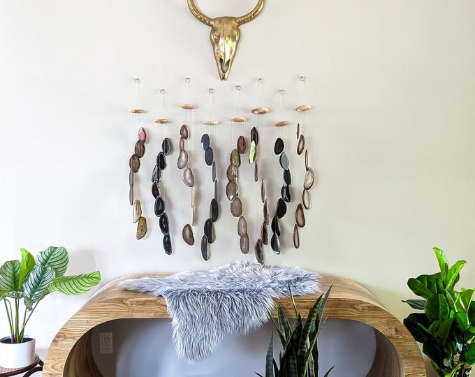 Choose Your Black LARGE Agate Chime