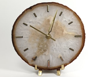 """7"""" Large Natural Agate Desk Clock 