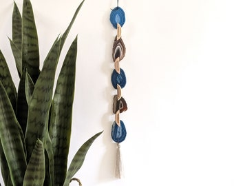 Blue/Dark Natural Agate Garland