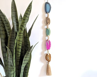 Fiona Design | Teal Natural Green Agate Garland