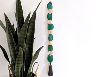 Green Agate Boho Garland | 6-Piece Length