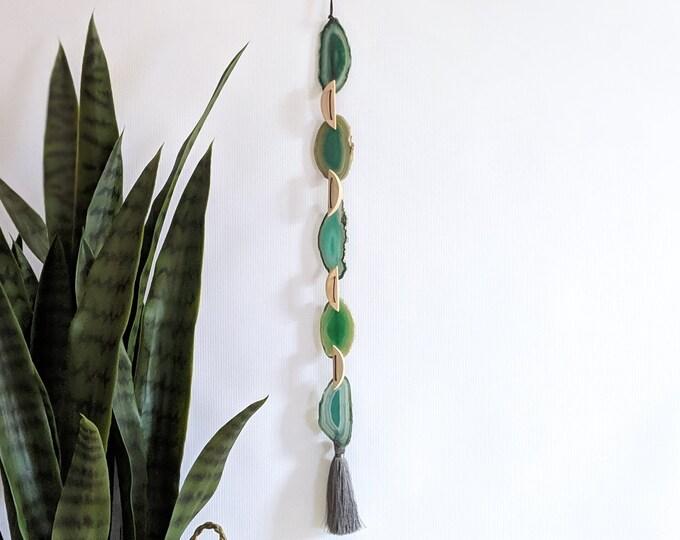 Payton Design | Green Boho Agate Tassel Hanging