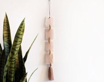 Rose Quartz Garland | Rose Quartz Tassel Wall Hanging
