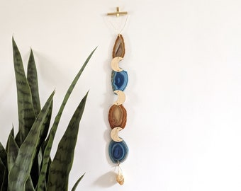 Blue/Natural/Citrine Agate Garland