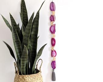 Pink/Fuchsia Agate Boho Garland | 6-Piece Length
