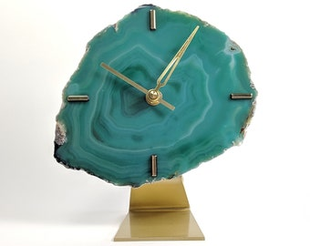 "7"" Green Large Agate Clock"