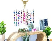 CUSTOM AGATE GARLAND,Made to Order,Boho Wall Decor,Boho Decor,Boho Wall Hanging,Agate Wall Hanging,Agate Tassel,Geode Hanging,Boho Garland