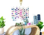 CHOOSE AGATE GARLAND,Made to Order,Boho Wall Decor,Boho Decor,Boho Wall Hanging,Agate Wall Hanging,Agate Tassel,Geode Hanging,Boho Garland