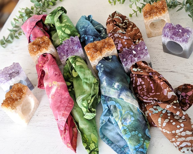 Featured listing image: Amethyst or Citrine Geode Napkin Rings - Set of 4