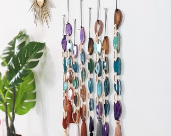 Ginger Rainbow Agate Garland Wall Hanging | Made to Order