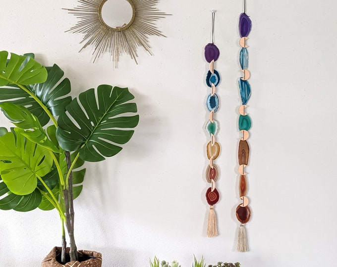 Featured listing image: Choose Your Chakra Design Agate Garland | Made to Order
