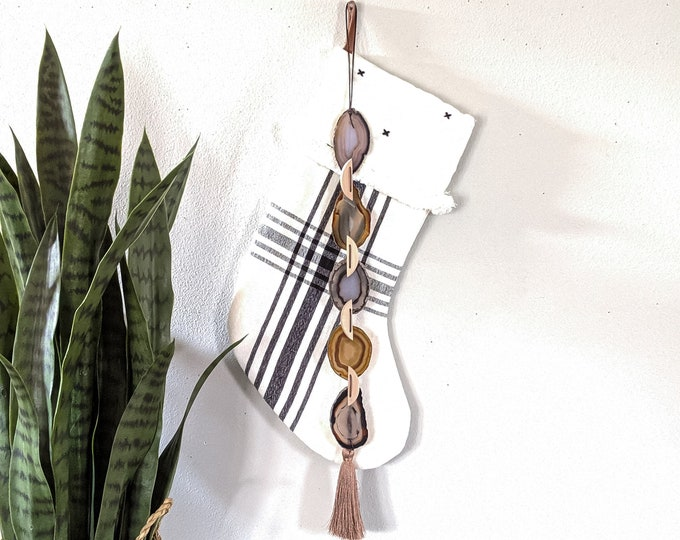 Flax Agate Garland Wall Hanging