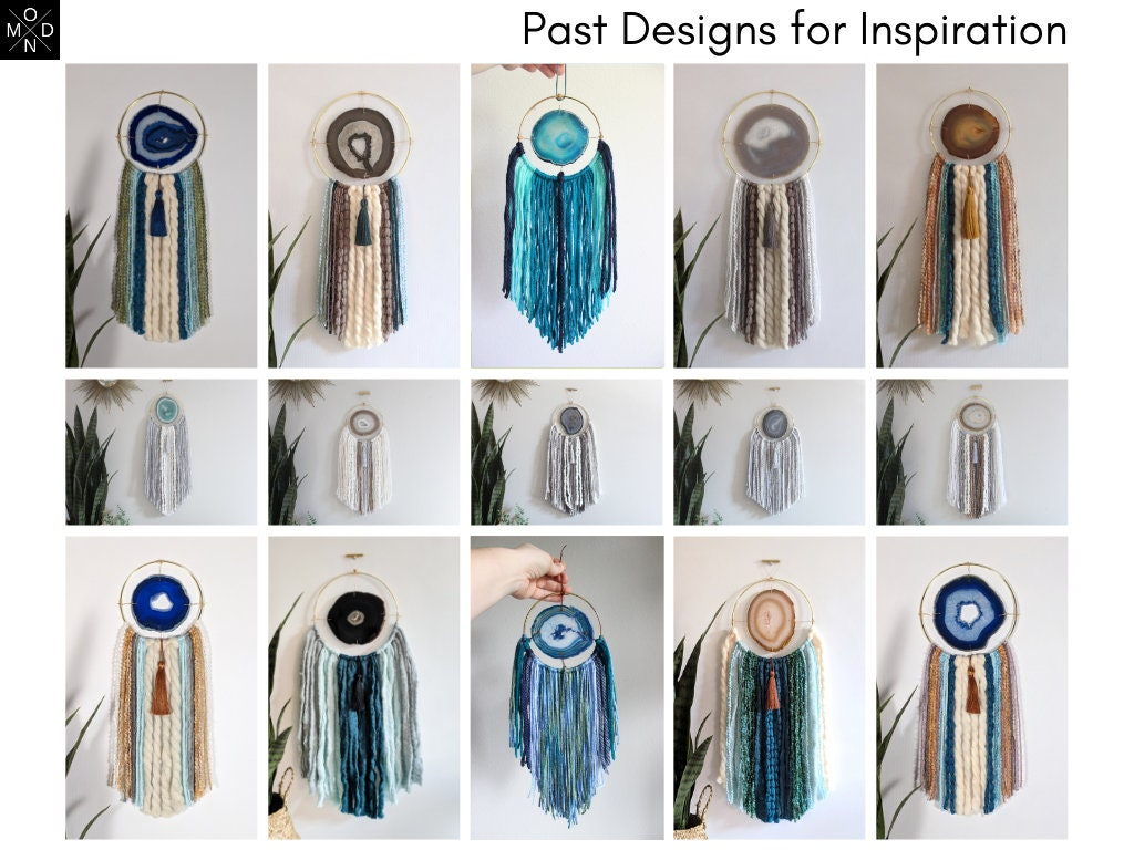Choose Your Agate Fringe Wall Hangingdreamcatcher Made To