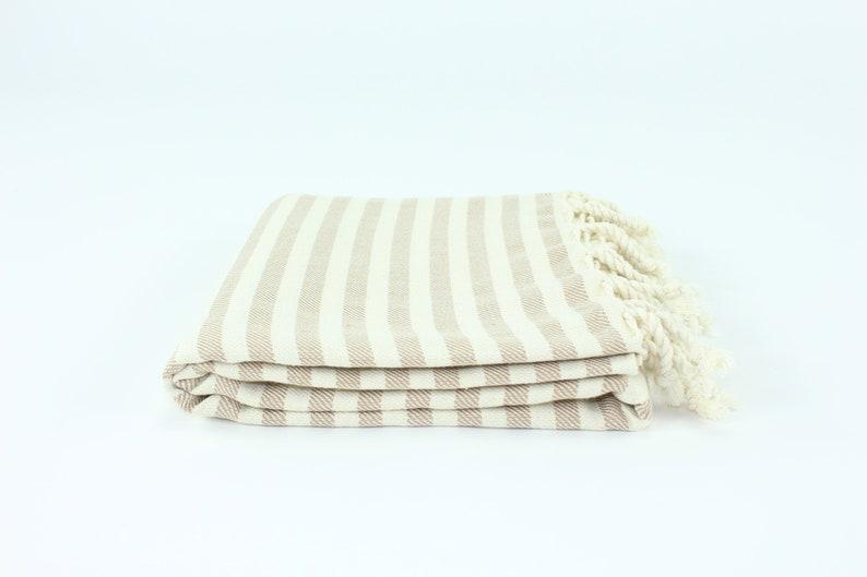 US Seller  Premium Striped Turkish Beach Towel Peshtemal image 0