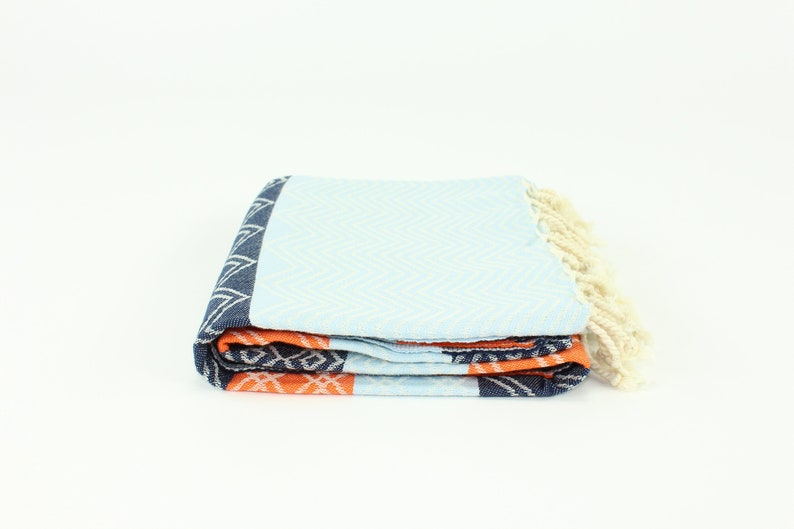 Premium Zig Zag Pattern Turkish Peshtemal Fouta Towel Bath image 0