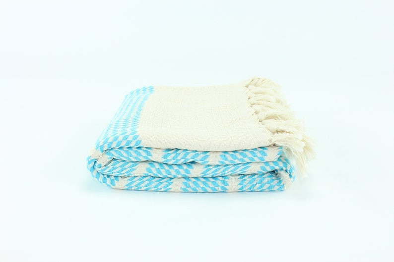 US Seller  Premium Turkish Herringbone Pattern Towel Fouta image 0