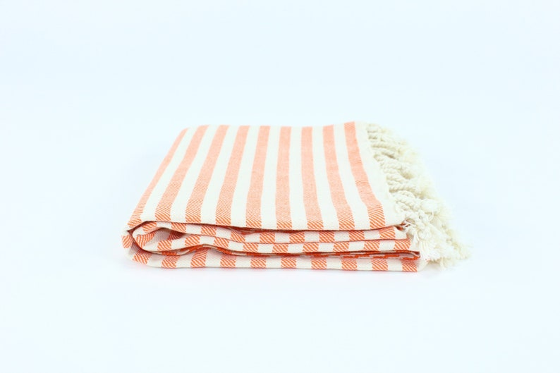 US Seller  Premium Striped Turkish Beach Towel Peshtemal image 0